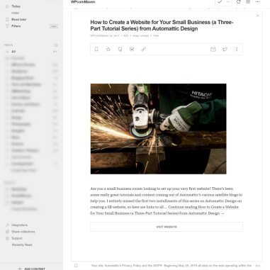 Feedly RSS app