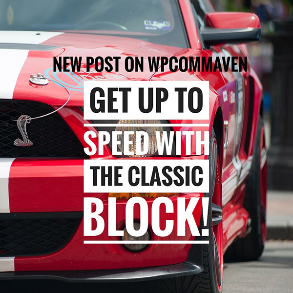 Behind the Wheel of the Classic Block https://wp.me/p1MwNN-1Je